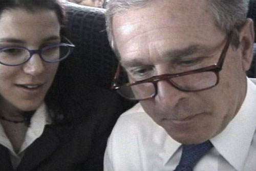 Alexandra Pelosi and George W. Bush