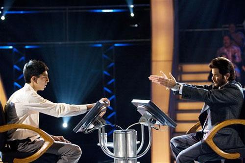 Jamal on Who Wants To Be A Millionaire in Slumdog Millionaire